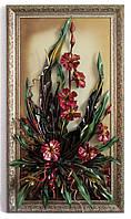 Панно с карминовыми орхидеями