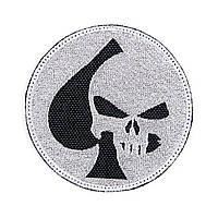"Нашивка на липучці ""Punisher/Spade"" (Чорно-сіра)"
