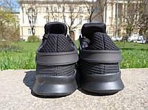 Кроссовки мужские Adidas EQT (черные) Top replic, фото 2