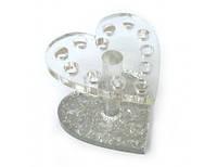 Подставка для кистей сердце на 12 секций