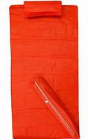 Пляжный коврик с подголовником 74х150 красный