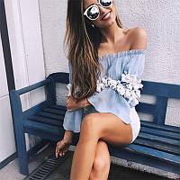 Женская шикарная летняя кофточка с открытыми плечами