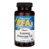 Swanson EFAs Evening Primrose Oil (OmegaTru) Масло примулы вечерней 500 мг 100 капс