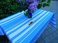 Вышитая голубая скатерка, фото 1