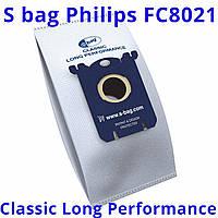 Одноразовые мешки оригинал S Bag Philips FC8021 03 пылесборники для пылесосов FC 9073, FC 9071, FC9170, FC8655