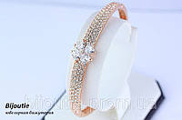 Браслет ювелірна біжутерія золото 18К декор кристали Swarovski, фото 1