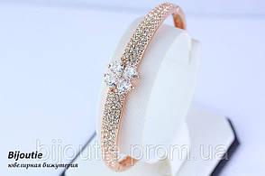 Браслет ювелірна біжутерія золото 18К декор кристали Swarovski