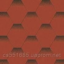 Красный мак. Нарезка Мозаика. Битумная черепица Aquaizol (Акваизол)