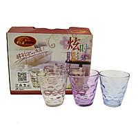 Набор стаканов цветных Лак-микс  250мл. 6шт 944