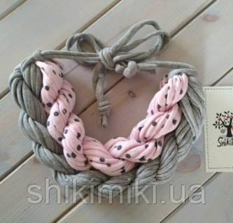 Колье женское вязаное из трикотажной пряжи Кокетка