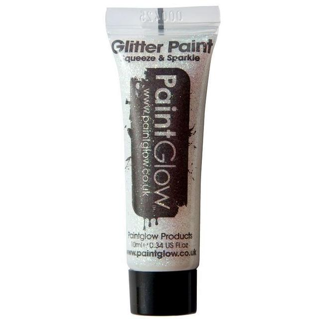 Гель с блестками Белый Paint Glow Glitter Face & Body Gel White