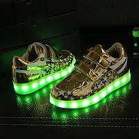 LED кроссовки золото америка детские