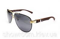 Солнцезащитные очки в стиле Gucci (2941) коричневая оправа, фото 1