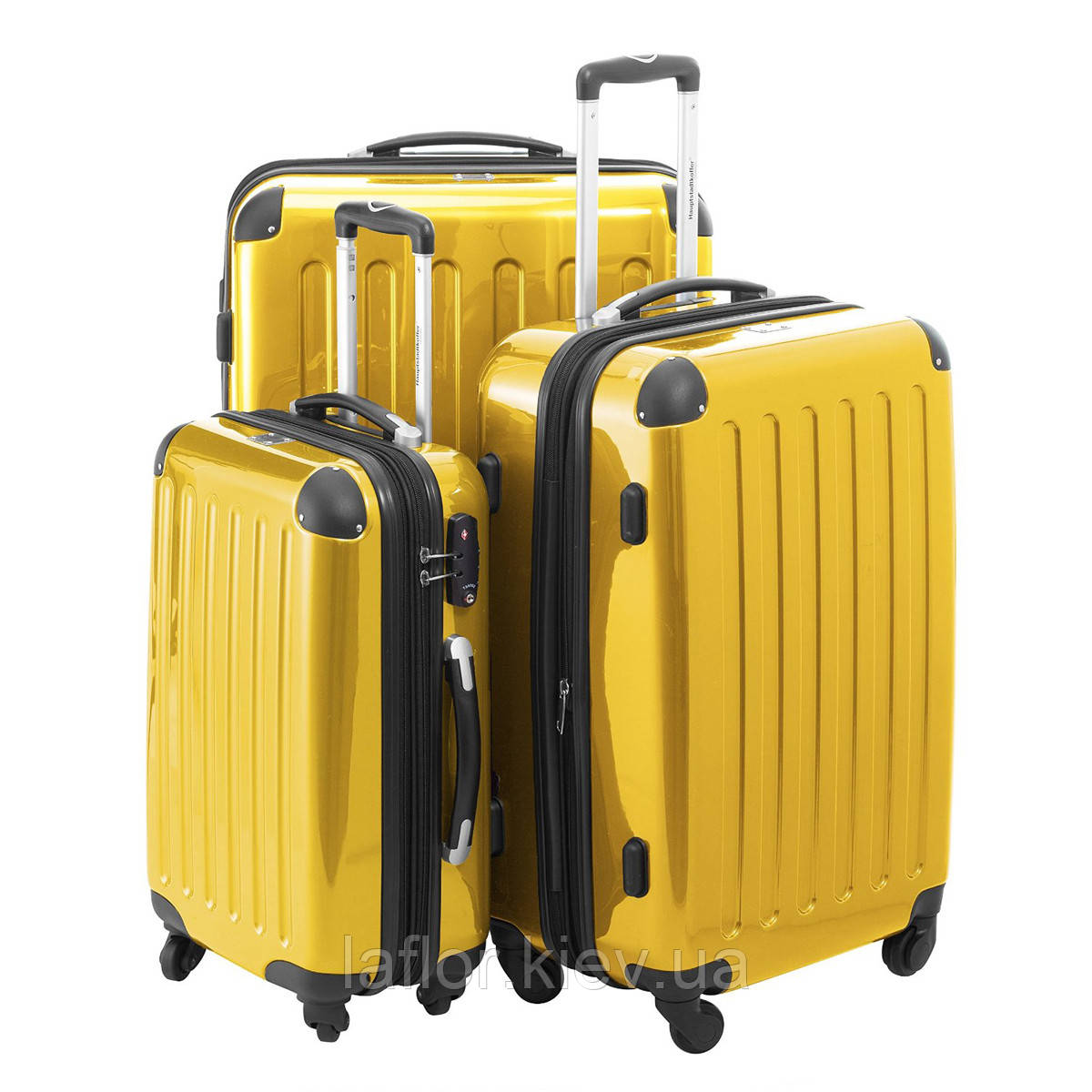 Набор чемоданов Hauptstadtkoffer Alex желтый