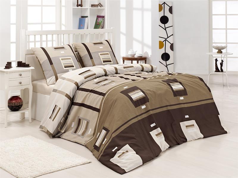Полуторный комплект постельного белья First Choice Greko Kahve