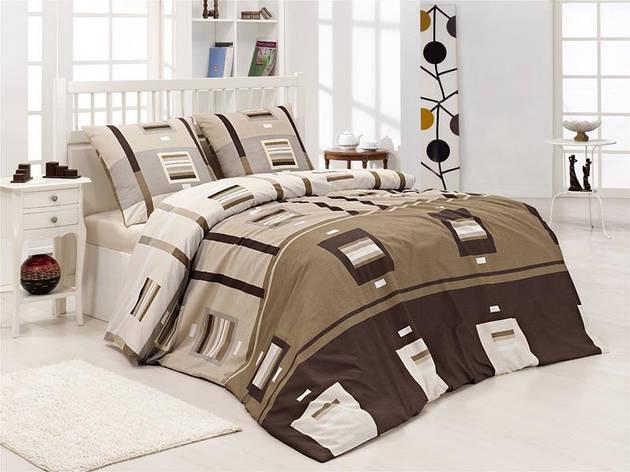Полуторный комплект постельного белья First Choice Greko Kahve, фото 2