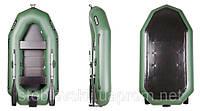B-250CN Надувная лодка Bark двухместная с навесным транцем, гребная