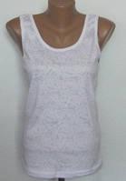 Майка женская белая. Размерный ряд: 52-56