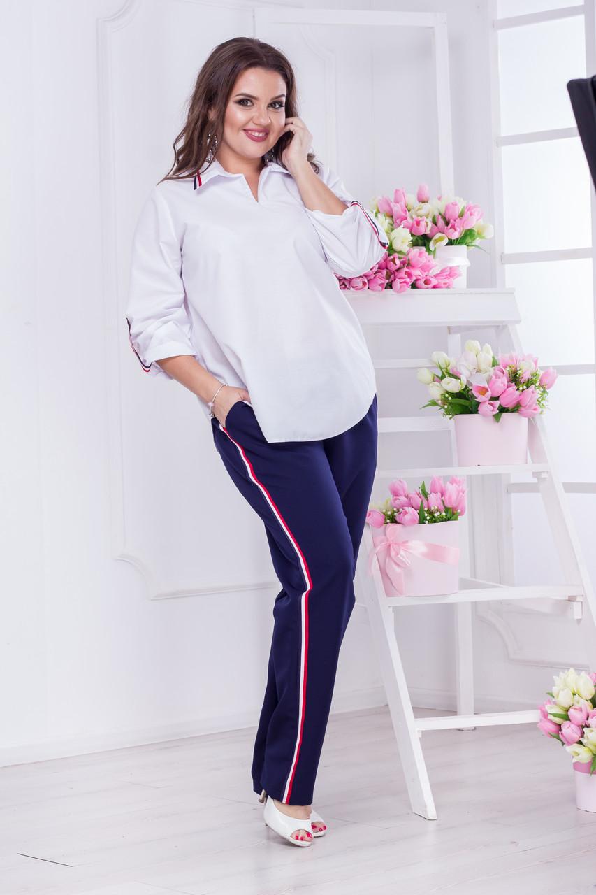 Блуза большого размера 03510