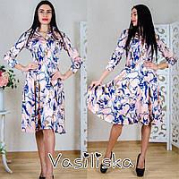 Женское нежное стильное платье (7 цветов) принт-1, S