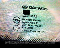 Оригинальное лобовое стекло Daewoo NUBIRA-1. Лобовое стекло на Нубиру-I Hanglas Sekurit GM# 96305847 Ю.Корея