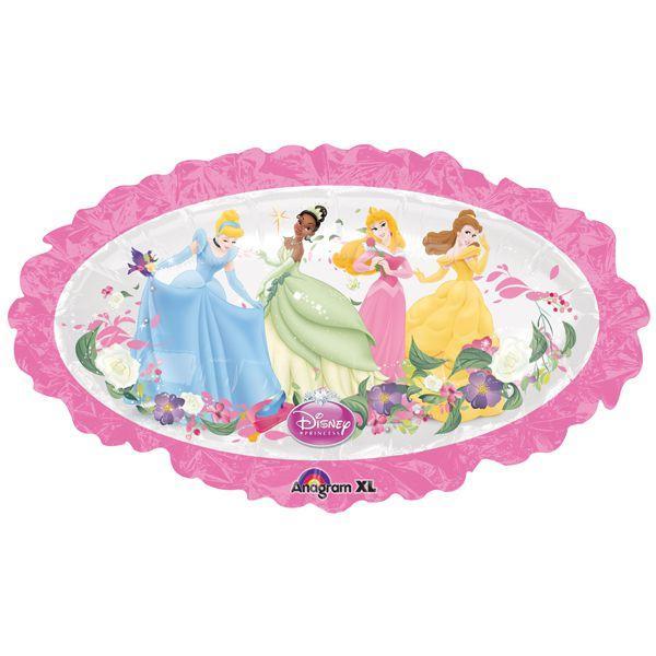 Фольгированный шар Принцессы Диснея круг 95х60см гелий