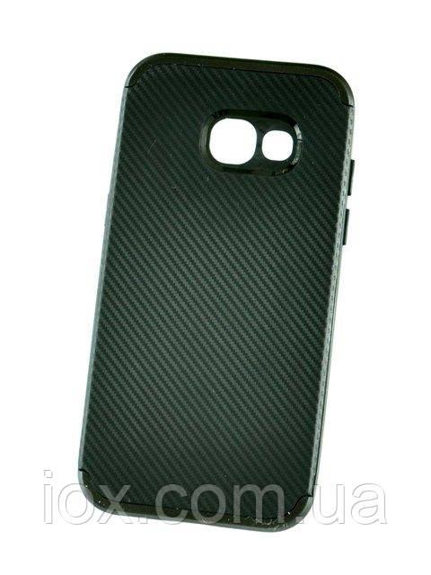 Черный мягкий чехол IPAKY Carbon для Samsung Galaxy A5 2017 / A520, фото 1