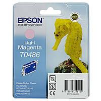 Epson T0486 Картридж Light Magenta (Светло Красный) (C13T04864010)