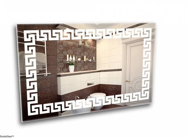 Зеркало с подсветкой в стиле греческого орнамента., фото 2