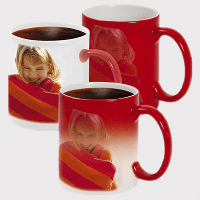 Кружка хамелеон (изменяющая цвет) с Вашим фото красная