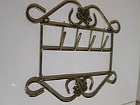 Кованая вешалка-ключница