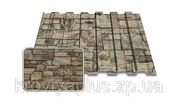 Профнастил Т-8 0,4мм Printech (Принтек) дикий камень,Украина(Black sea steel), фото 3
