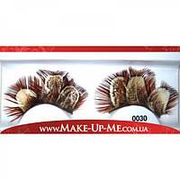 Фантазийные перьевые накладные ресницы 0030 + клей - 0030-1
