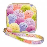 Женский кожаный кошелек Katerina Fox на фото цвета из натуральной кожи с нанесением цветочного принта (KF-1048