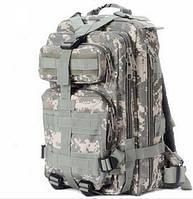 Рюкзак тактический штурмовой 26L пиксель серый ACU  , фото 1