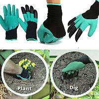 Садовые перчатки с когтями Garden Genie Gloves, перчатки когти