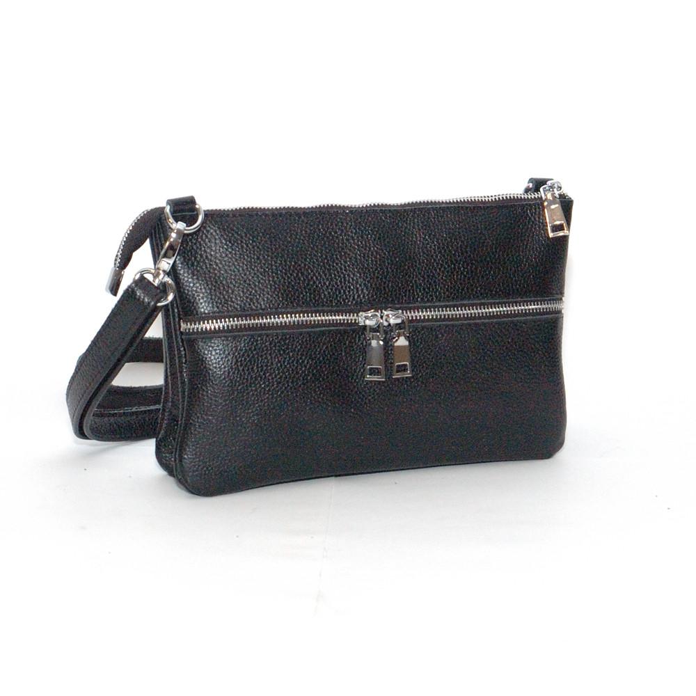 Кожаная женская сумочка 28 черный флотар 01280101