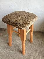 Деревянный табурет с мягким сидением Барвинок