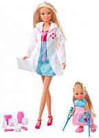 Набор кукол с аксессуарами Детский врач, Steffi & Evi Love