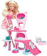 Набор с куклой Штеффи Домик для котов, Steffi & Evi Love