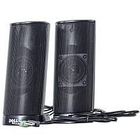 Колонки DELL AX210 черные стерео динамики для ноутбука и настольного компьютера питание USB разъем 3,5 jack