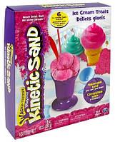 Набор песка для детского творчества Wacky Tivities Kinetic Sand розовый с формочками (71417-1)
