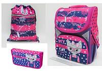 "Набор ранец ортопедический ""My little cat"" JO-1702 пенал  JO-17023 сумка для обуви JO-17021"