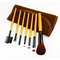 Набор кистей для макияжа 7 шт - Make Up Me BRV-7 Коричневый Вельвет - BRV7