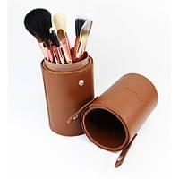 Профессиональный набор кистей для макияжа 13 шт - Make Up Me TUBE-13 Коричневый - TUBE-13-4
