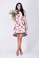 Нарядное летнее платье с цветочным принтом