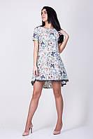 Женское платье в бабочки с кружевом