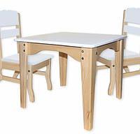 Столик и 2 стульчика из сосны Зеленый, Синий, Белый, Розовый Babygrai, фото 1