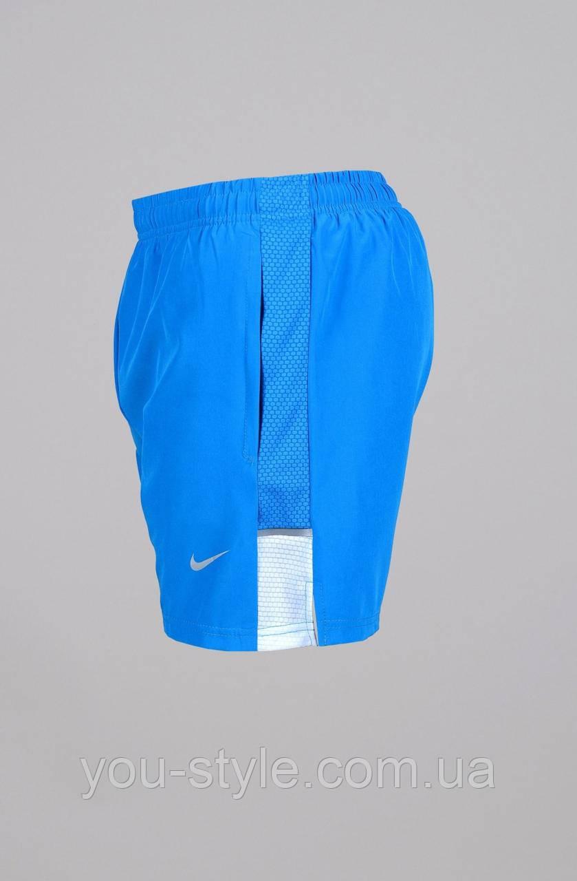 Мужские шорты Nike 3794 Голубые