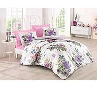 Хлопковый комплект постельного белья ЕВРО размера Cotton Box STELLA PEMBE CB03